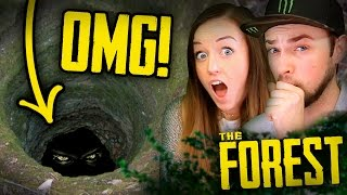 Download WHAT'S DOWN THE HOLE?!? - The Forest #2 w/ Ali + Clare Video