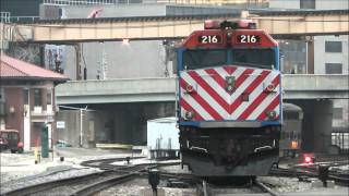 Download Metra Evening Rush at North Canal St, Chicago, plus Amtrak, 02.03.12 Video