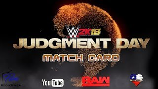 Download WWE 2K18 Raw's Judgement Day Official Match Card Video