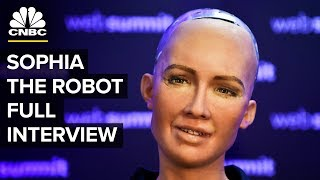 Download Interview With The Lifelike Hot Robot Named Sophia (Full) | CNBC Video