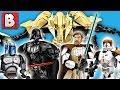Download All Six Lego Star Wars Buildable Figures! Grievous Vader Obi-Wan Commander Cody Jango Fett Skywalker Video
