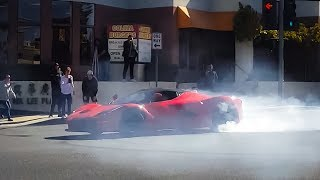 Download Crazy Laferrari SPINS OUT in Middle of Street...CLOSE CALL Video