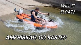 Download Amphibious Go Kart Build Gets Outboard Motor Power! Video