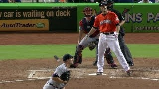 Download Jose Fernandez hits first home run, benches clear Video