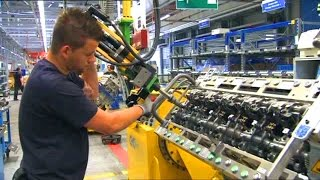 Download Truck engine production. Mercedes-Benz Mannheim plant. Video