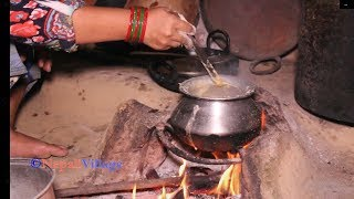 Download Traditional lifestyle of people in village ll Cooking food and eating together by family Video