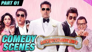 Download Entertainment Comedy Scenes | Akshay Kumar, Tamannaah Bhatia, Johnny Lever | Part 1 Video