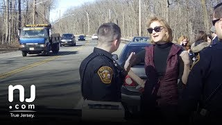 Download Full video: Port Authority commissioner confronts police during N.J. traffic stop Video