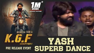Download Rocking Star Yash Superb Dance Performance For Salaam Rocky Bhai Song @ KGF Pre Release Event Video