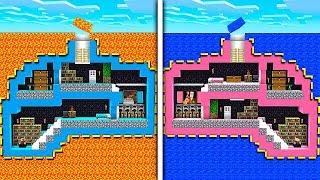 Download Minecraft Boy vs Girl Secret Underground Base Challenge Video