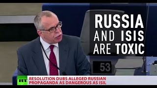 Download 'We are at war with Russia': EU Parliament approves resolution to counter Russian media 'propaganda' Video