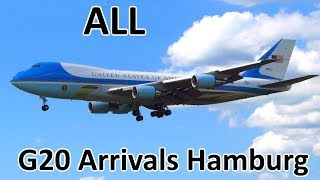 Download G20 Hamburg | ALL Government/Presidential Aircraft Arrivals - Planespotting at Hamburg (2017) Video