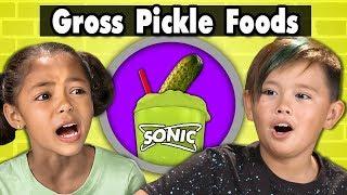 Download KIDS TRY GROSS PICKLE FLAVORED FOODS! Kids Vs. Food Video