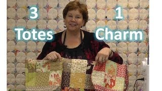 Download Make Three Totes / Purses With One Charm Pack! Video