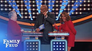 Download Marjorie would swap Steve for WHAT? | Celebrity Family Feud Video