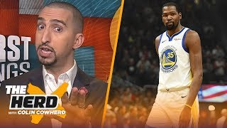 Download Nick Wright on Kevin Durant throwing shade at LeBron, talks paying Dak Prescott and more | THE HERD Video