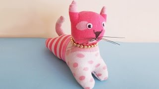 Download Easy Sewing Project : How to Make DIY Stuffed Cat Toy From Socks | DIY Socks Crafts & Toy Making Video