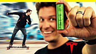 Download Tesla Batteries in an Electric Skateboard! Video
