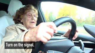 Download 92 year-old Roosi gets to drive a Tesla Model X: ″I'll take it!″ Video