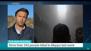Download The War In Syria: Air strikes kill 27 people in Aleppo on Monday Video