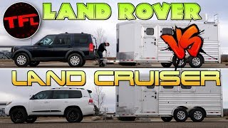 Download Which V8 Tows Better - An Overland-Ready Toyota Land Cruiser Or a Built Land Rover LR3? Video