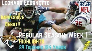 Download Leonard Fournette Week 1 Regular Season Highlights Impressive Debut | 9/10/2017 Video