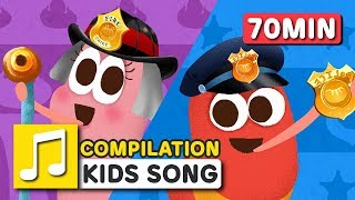 Download Great Jobs in the World and other songs | 75 min | LARVA KIDS | Nursery Rhyme for kids Video