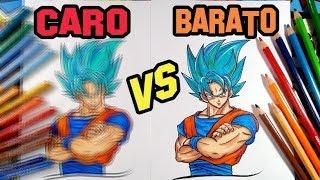 Download MATERIAL CARO VS BARATO comparando lápis de cor - GOKU SSJ BLUE Video