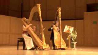 Download JS Bach, Jesu Joy of Man's Desiring, Harp Duet Video
