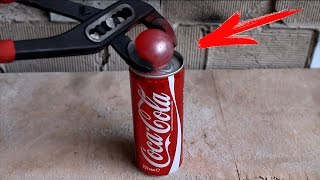 Download EXPERIMENT Glowing 700 degree metal ball VS COCA-COLA Video