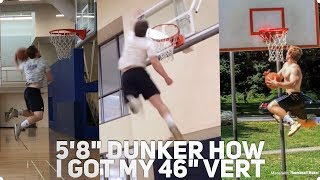 Download 5'8″ Dunker - How I Increased My Max Vert 20″ (Dunk Motivation) Video