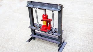 Download How To Make Hydraulic Press Machine   mini hydraulic machine   Without Welding Video