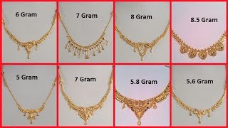 Download Latest Gold Necklace Designs Under 10 Grams Light Weight Short Gold Necklace Collection Video