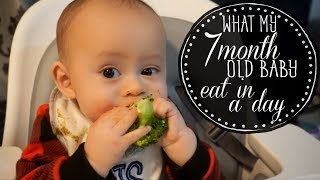 Download What my 7 month old baby eat in a day Video