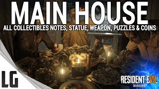 Download Resident Evil 7 - Main House Collectibles Guide (Shotgun, notes, statues, antique coins & More) Video