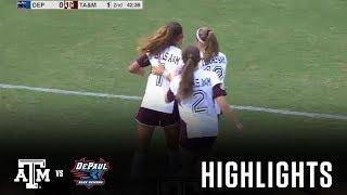 Download Soccer Highlights | Texas A&M vs. DePaul Video