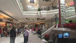 Download Area malls busy with shoppers on Black Friday Video