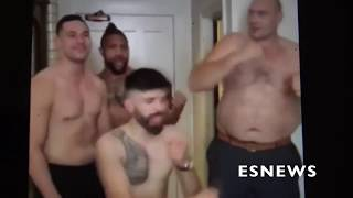 Download (WOW FUNNY) Former Champ Tyson Fury Extremely Out Of Shape Does Haka With Parker EsNews Boxing Video