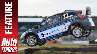 Download We drive Ford's Fiesta RX2 Rallycross car on Silverstone's new World RX track Video