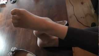 Download ballet flats & sheer pantyhose Video