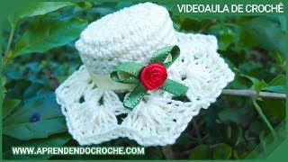 Download Imã / Lembrancinha de Nascimento em Croche - Mini Chapéu - Aprendendo Crochê Video