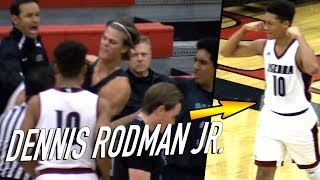 Download Dennis Rodman Jr. Game Gets HEATED 3 TIMES For NO REASON! Player Keeps INSTIGATING Taking The Ball! Video
