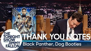 Download Thank You Notes: Black Panther, Dog Booties Video