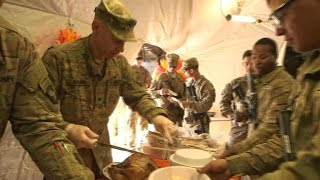 Download Some American troops in Iraq spend first Thankgiving away from home Video