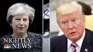 Download British Prime Minister May Criticizes Donald Trump Over London Subway Attack | NBC Nightly News Video