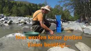 Download Super leichte 750 Gramm Goldwaschrinne für den Rucksack. Video