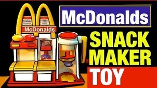 Download McDonalds Toys Hamburger Maker Playset Vintage McDonald's Snack Food Maker Toy Review by Mike Mozart Video