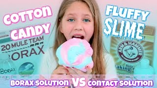 Download Cotton Candy FLUFFY SLIME DIY Borax Solution vs Contact Solution Recipes for Fluffy Slime Hope Marie Video