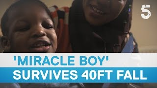 Download 'Miracle boy' defies all odds and recovers after falling 40ft through a window – 5 News Video