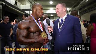 Download The NEW 2018 Olympia Champion Shawn Rhoden FULL After Show Interview Video